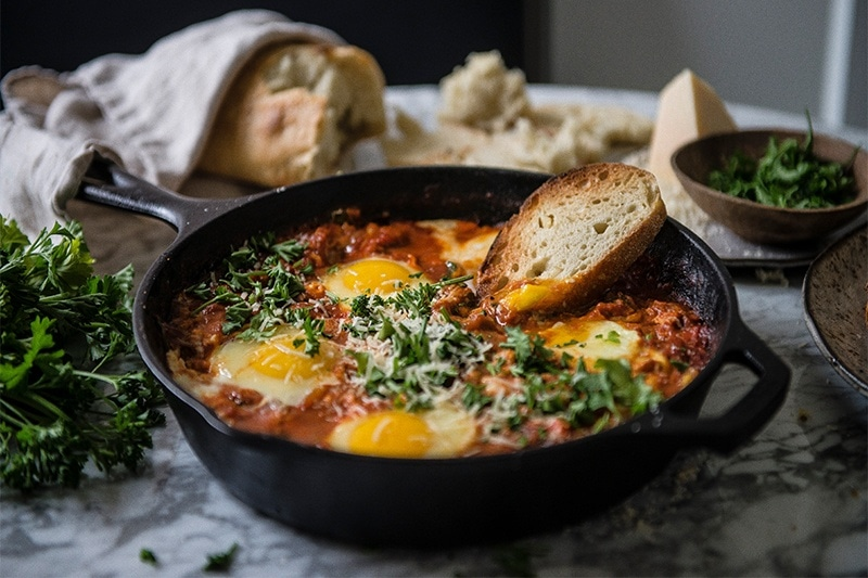Purgatory Eggs from A Common Table cookbook