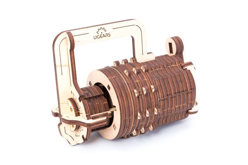 The UGEARS Model Combination lock 3D wooden puzzle
