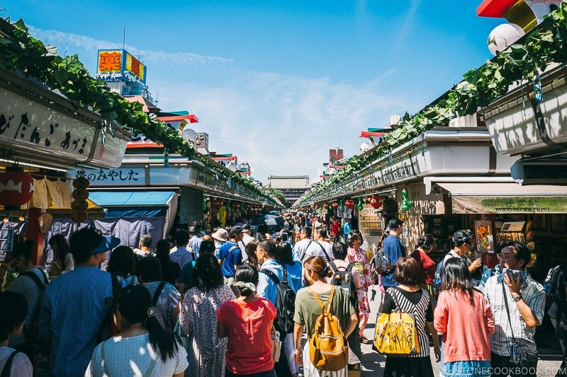 Nakamise Dori - Tokyo Asakusa Travel Guide | www.justonecookbook.com