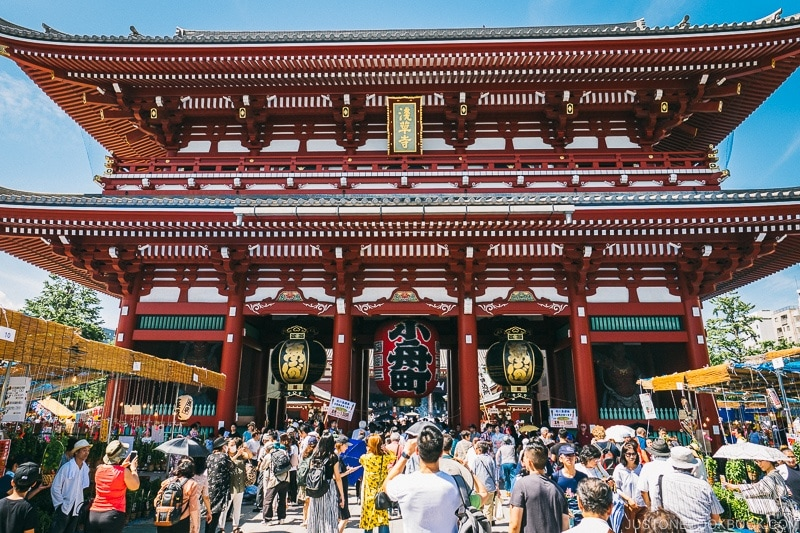 Hōzōmon gate - Tokyo Asakusa Travel Guide | www.justonecookbook.com