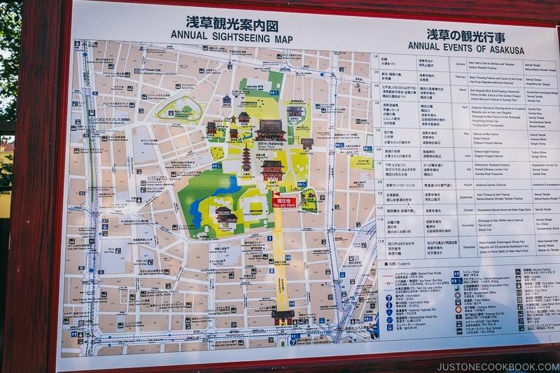 map of Asakusa - Tokyo Asakusa Travel Guide | www.justonecookbook.com
