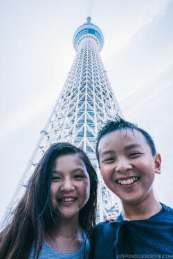 children in front of Tokyo Skytree - Tokyo Skytree Guide | www.justonecookbook.com