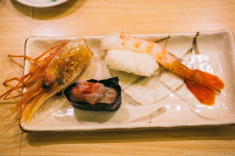 shrimp sushi - Tokyo Skytree Guide | www.justonecookbook.com