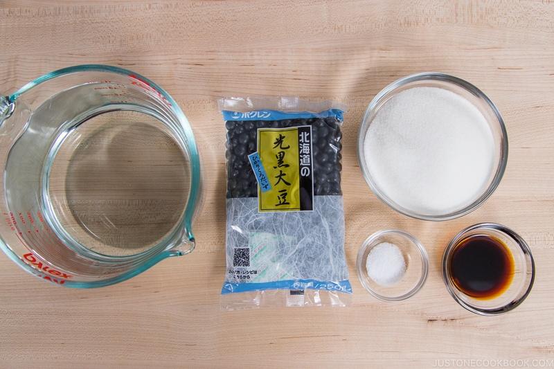 Instant Pot Kuromame Ingredients