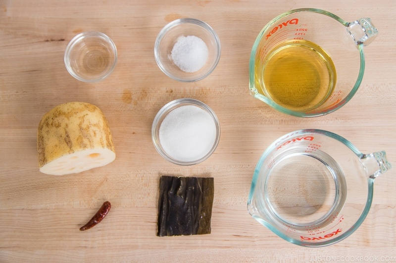 Pickled Lotus Root Ingredients