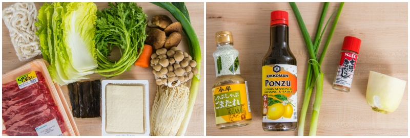 Shabu Shabu Ingredients