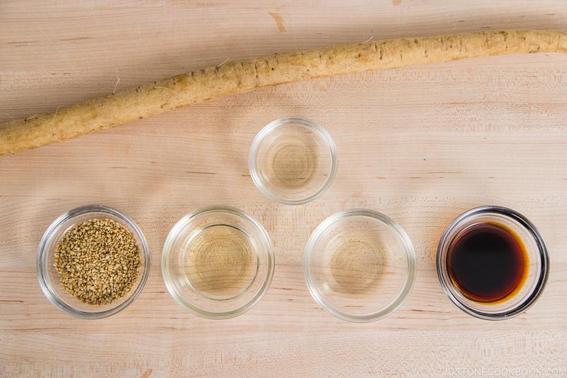 Tataki Gobo Ingredients