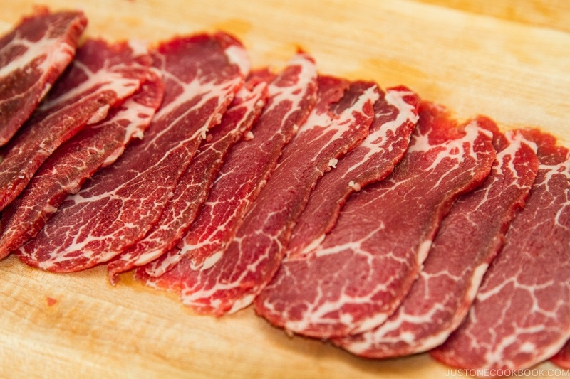 Thinly Sliced Meat