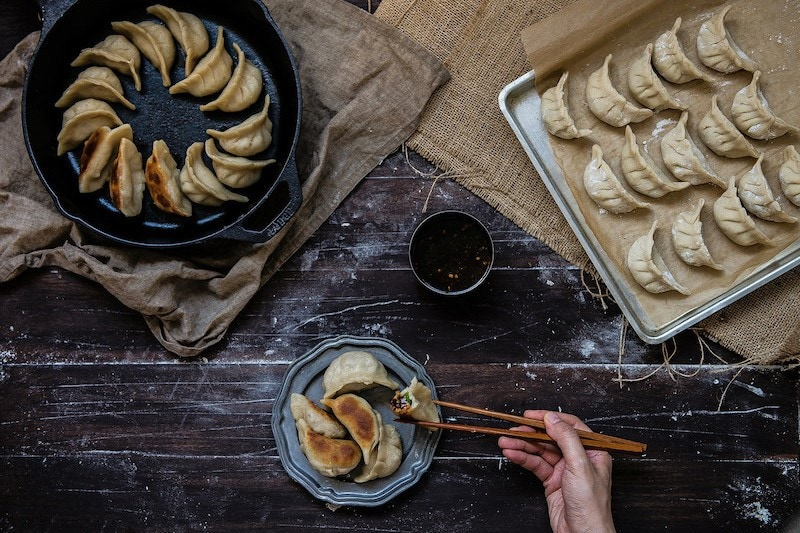 Potstickers from A Common Table cookbook