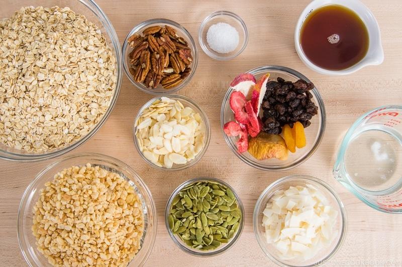 Easy Homemade Granola Ingredients