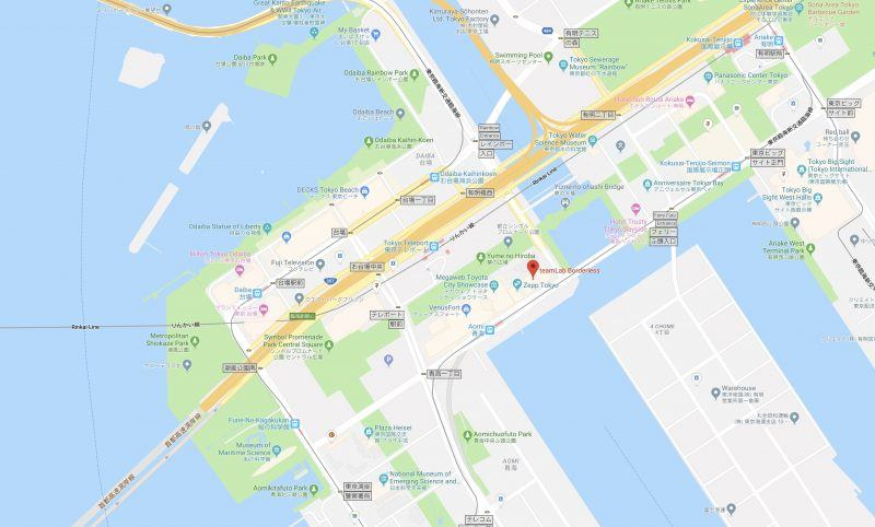 Google Map teamLab Borderless