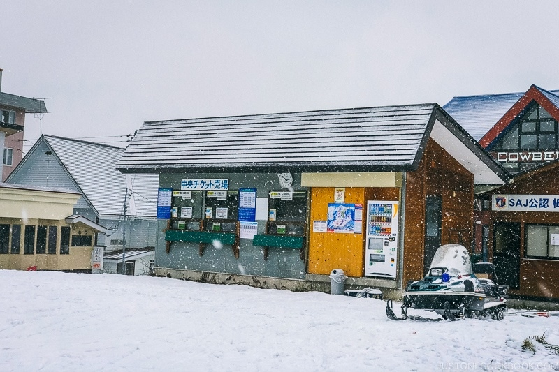 Tsugaike Ski Resort ticket booth - Hakuba Travel and Ski Guide | www.justonecookbook.com