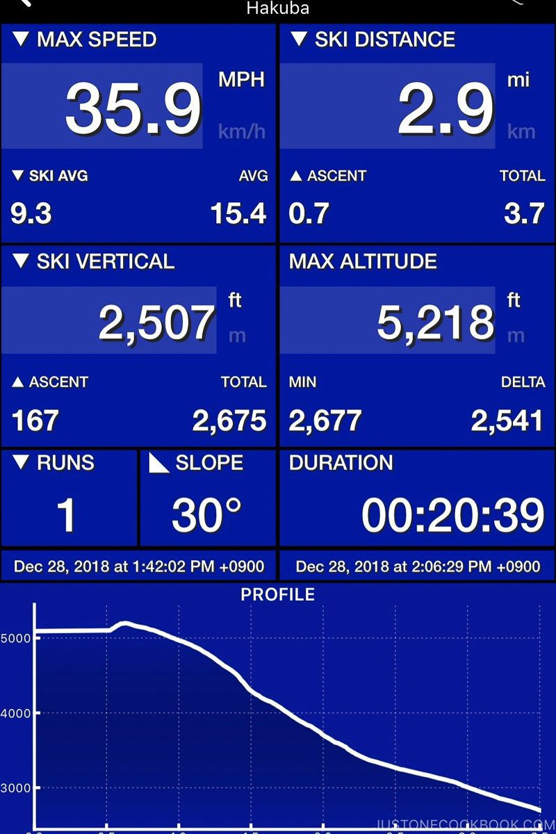 ski track data for Tsugaike Ski Resort - Hakuba Travel and Ski Guide | www.justonecookbook.com