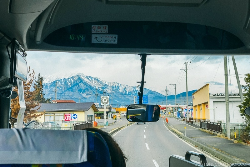 looking at Northern Alps Japan near Omachi City - Hakuba Travel and Ski Guide | www.justonecookbook.com