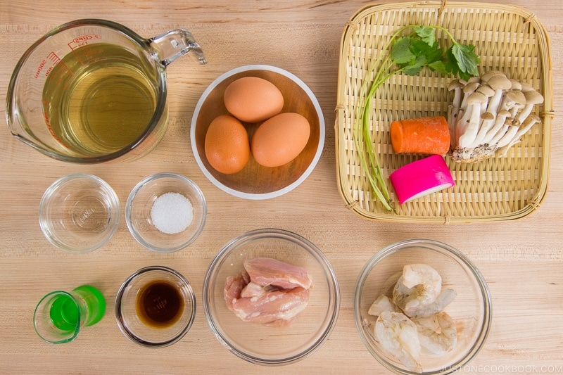 Instant Pot Chawanmushi Ingredients