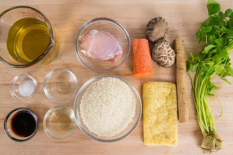 Instant Pot Takikomi Gohan Ingredients