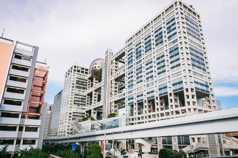 Fuji Television building - Tokyo Odaiba Travel Guide | www.justonecookbook.com