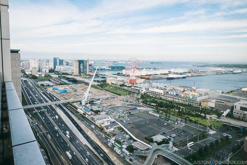 view of Palette Town Daikanransha from Fuji Television - Tokyo Odaiba Travel Guide | www.justonecookbook.com