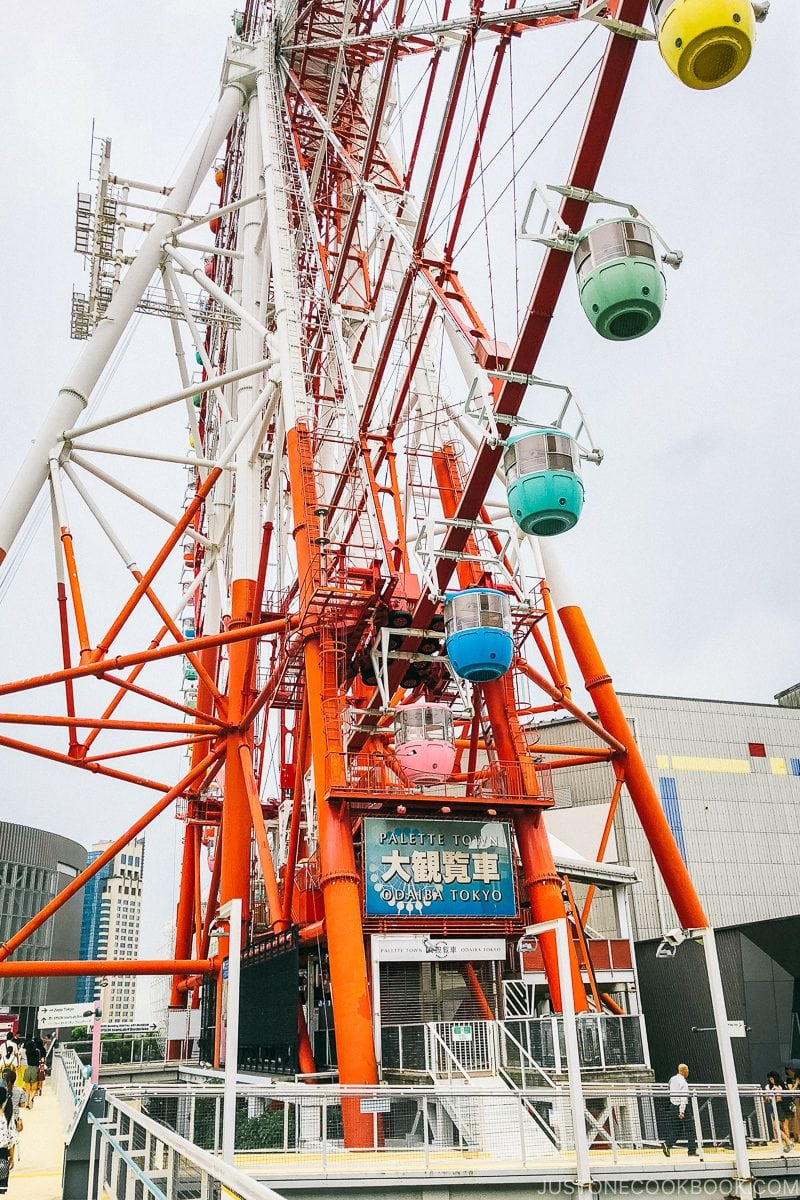 Palette Town Daikanransha - Tokyo Odaiba Travel Guide | www.justonecookbook.com