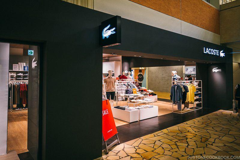 Lacoste store Aqua City Odaiba - Tokyo Odaiba Travel Guide | www.justonecookbook.com