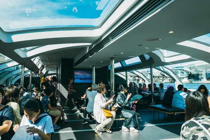 interior cabin space of Tokyo Cruise HOTALUNA - Tokyo Cruise | www.justonecookbook.com