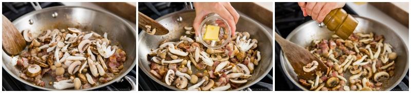 Creamy Mushroom Bacon Spaghetti 8