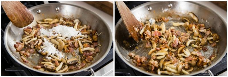 Creamy Mushroom Bacon Spaghetti 9