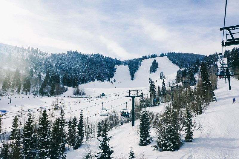 ski slopes at Deer Valley - Ski Vacation Planning in Utah | www.justonecookbook.com