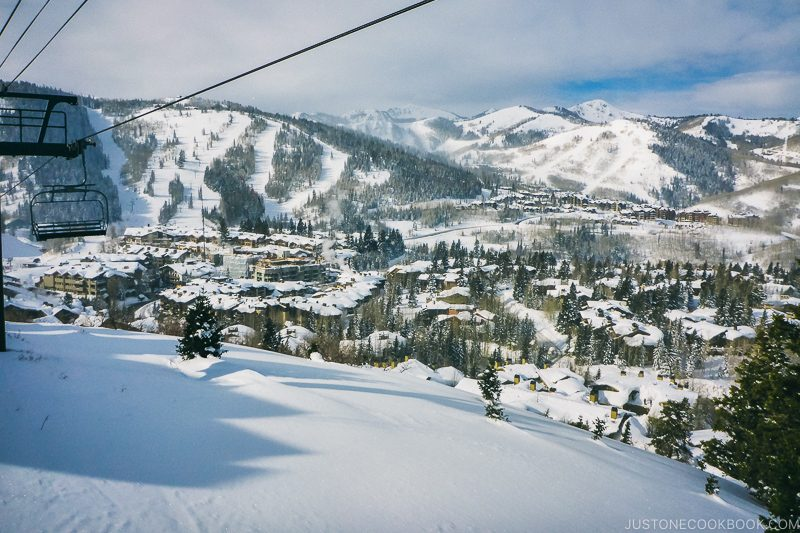 ski run and lodging at Deer Valley - Ski Vacation Planning in Utah | www.justonecookbook.com