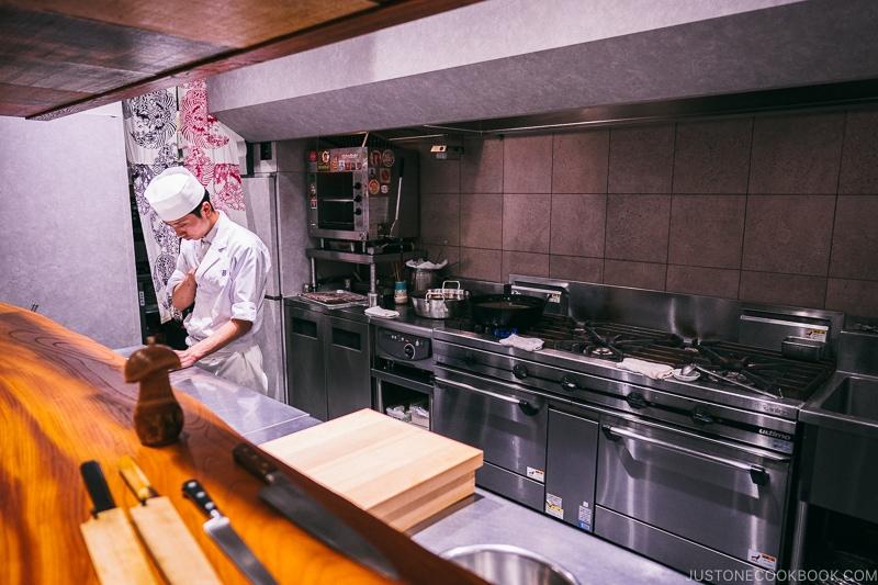 kitchen - Restaurant Den Tokyo | www.justonecookbook.com
