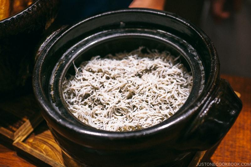 shirasu rice - Restaurant Den Tokyo | www.justonecookbook.com
