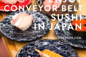 how to order conveyor belt sushi in Japan