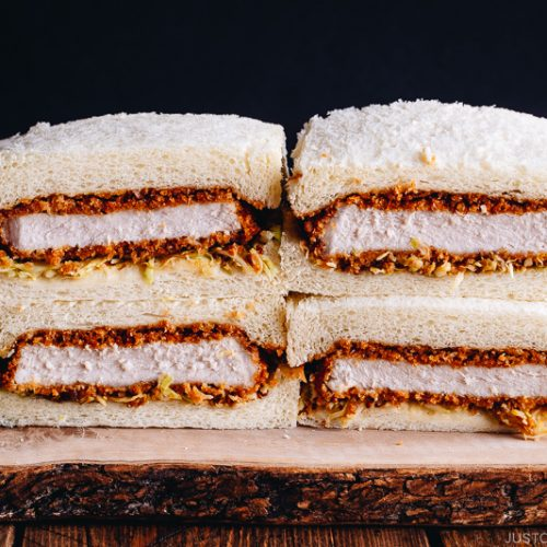 Katsu Sando stacked on top of each other.