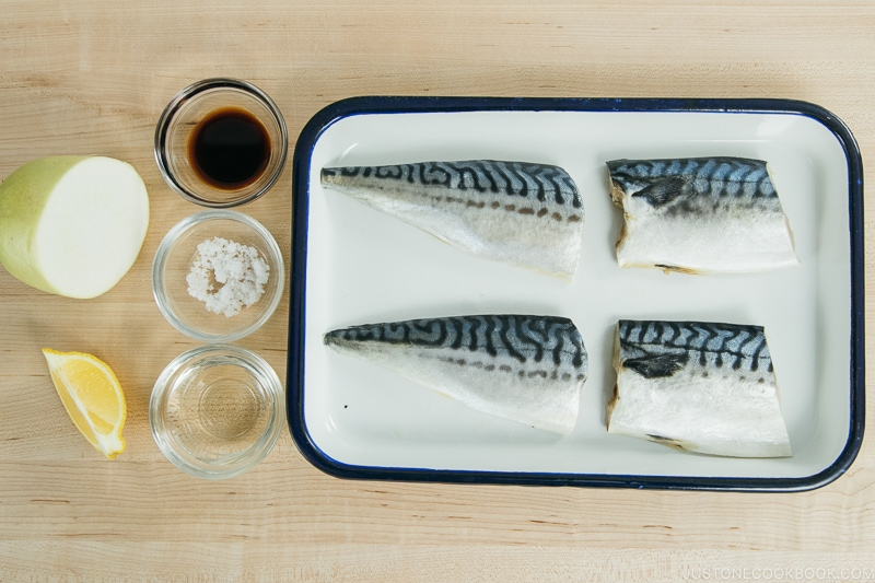 Saba Shioyaki Ingredients