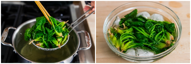 Spinach and Bean Sprout Namul 10