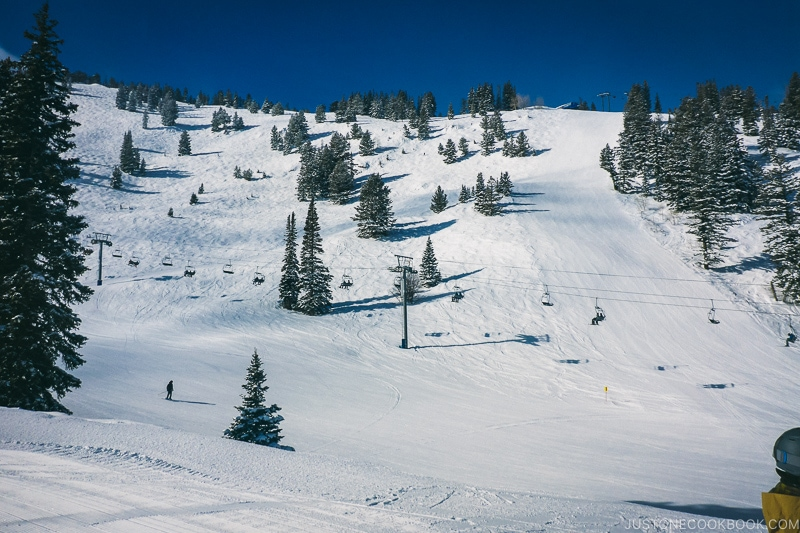 ski runs at Solitude Mountain Resort - Ski Vacation Planning in Utah | www.justonecookbook.com