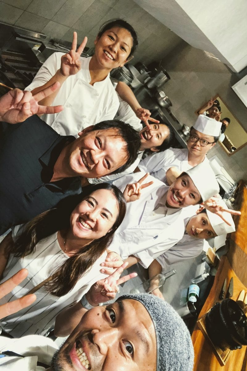 Just One Cookbook with the staff - Restaurant Den Tokyo | www.justonecookbook.com
