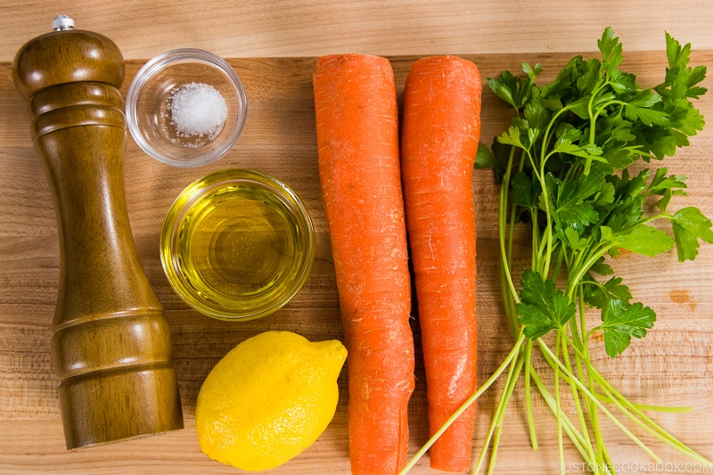 Easy Carrot Salad Ingredients
