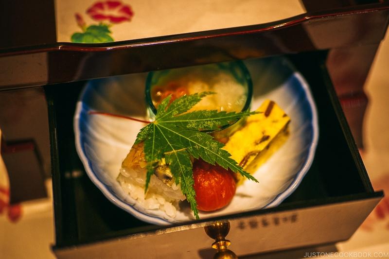 seasonal appetizer at Asukasou Ryokan - Nara Guide: Things to do in Nara | www.justonecookbook.com