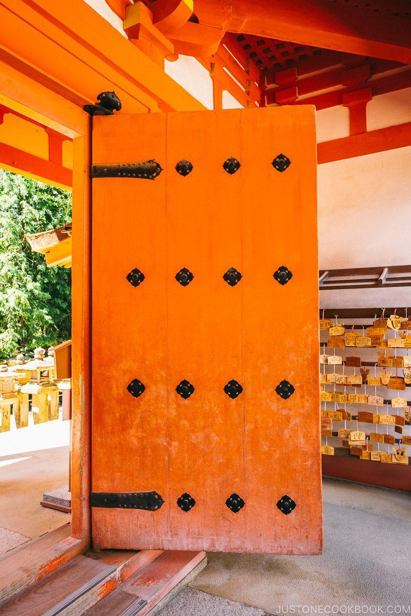 doors on Nanmon (South Gate) | Nara Guide: Kasuga-taisha | www.justonecookbook.com