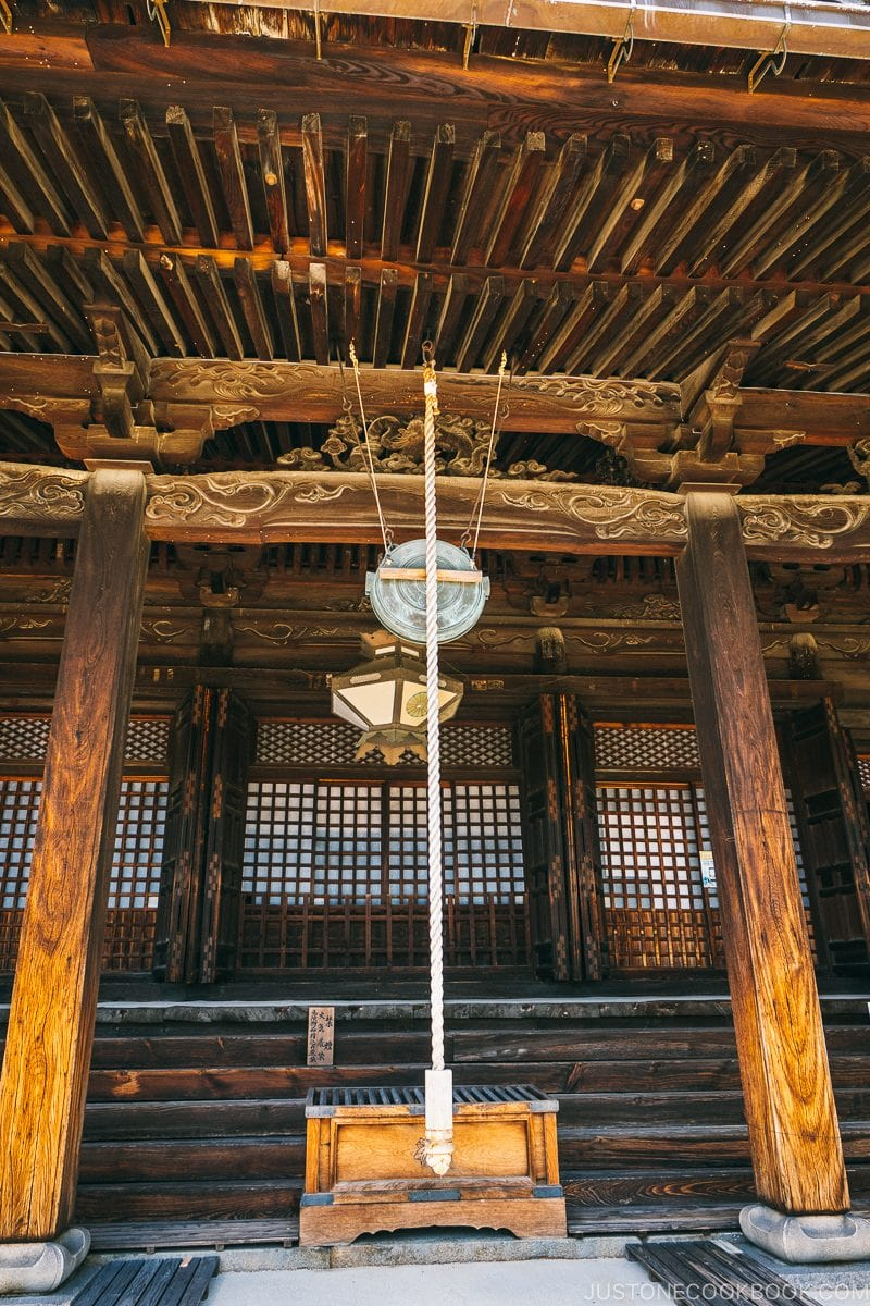 the main hall at Saidaiji - Nara Guide: Historical Nara Temples and Shrine | www.justonecookbook.com