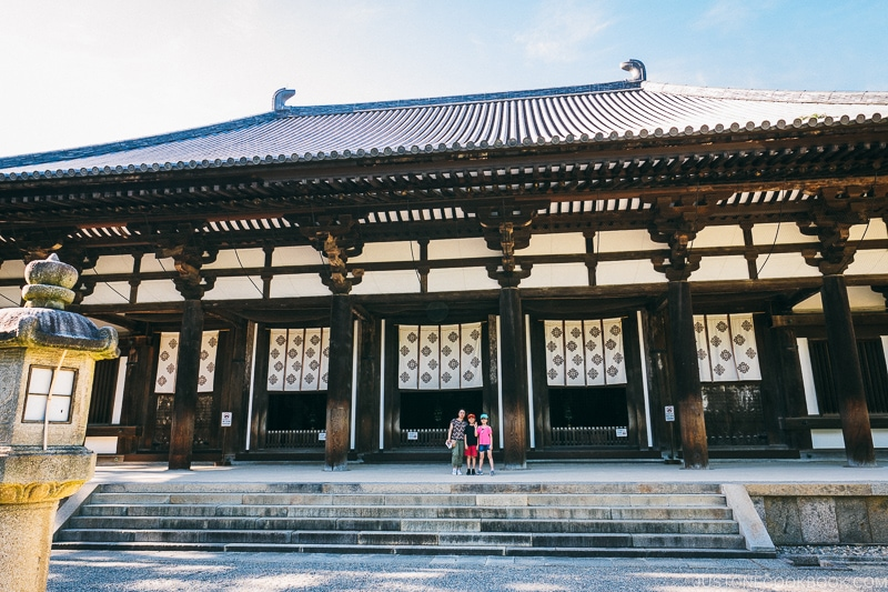 Golden Hall at Toshodaiji - Nara Guide: Historical Nara Temples and Shrine | www.justonecookbook.comat