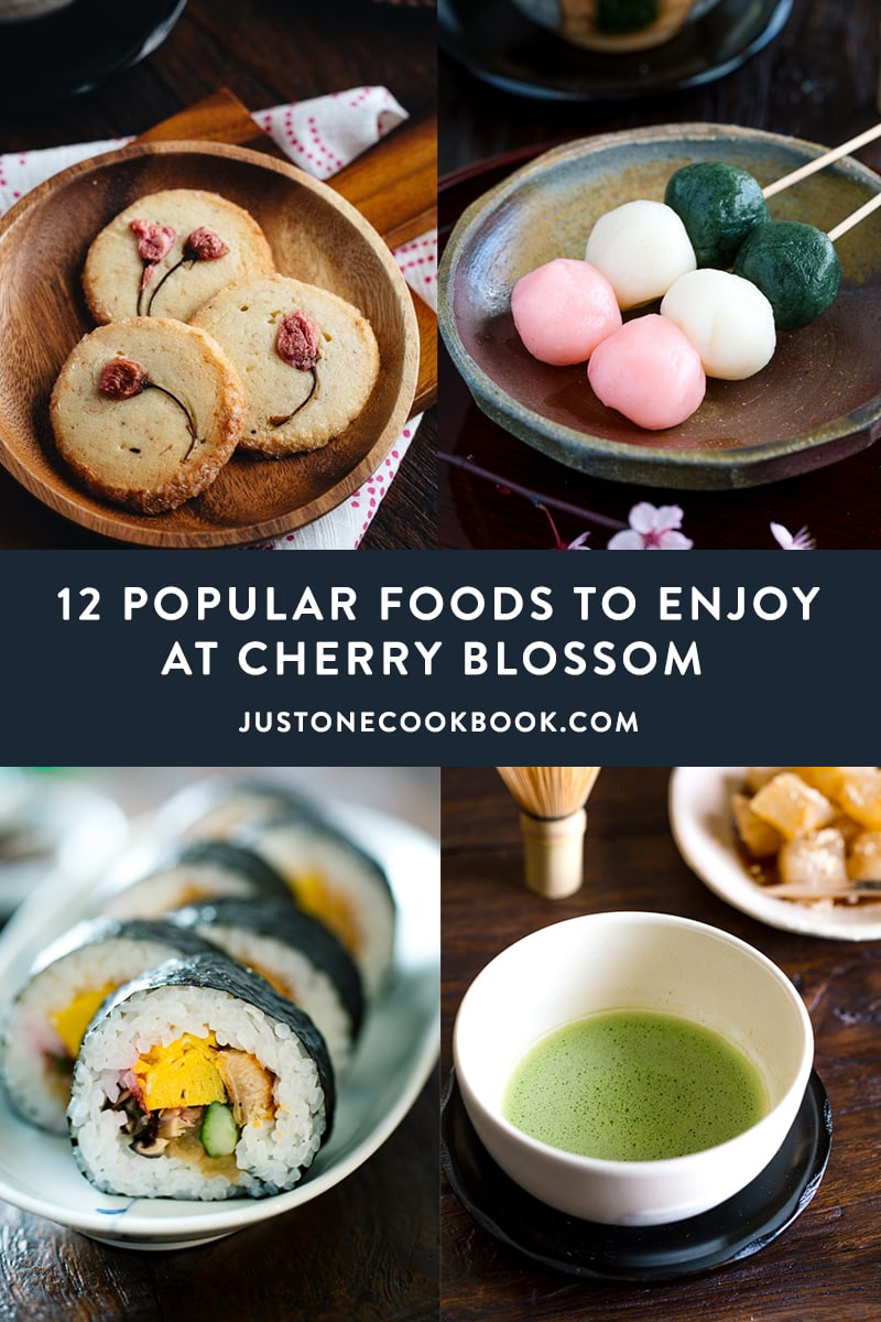 thumbnail of Japanse food in bowls and dishes to enjoy during cherry blossom