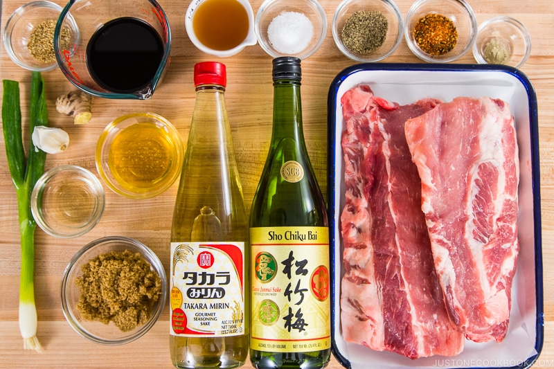 Instant Pot Asian Sticky Ribs Ingredients