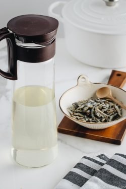 Iriko Dashi - Japanese Soup Stock in the bottle.