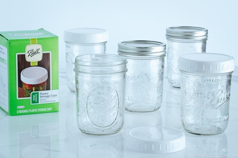 Mason Jars with Plastic Caps