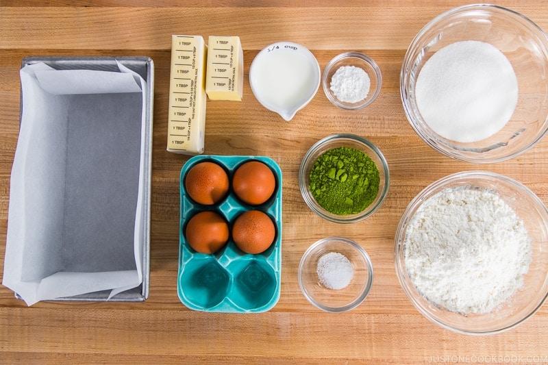 Matcha Marble Pound Cake Ingredients