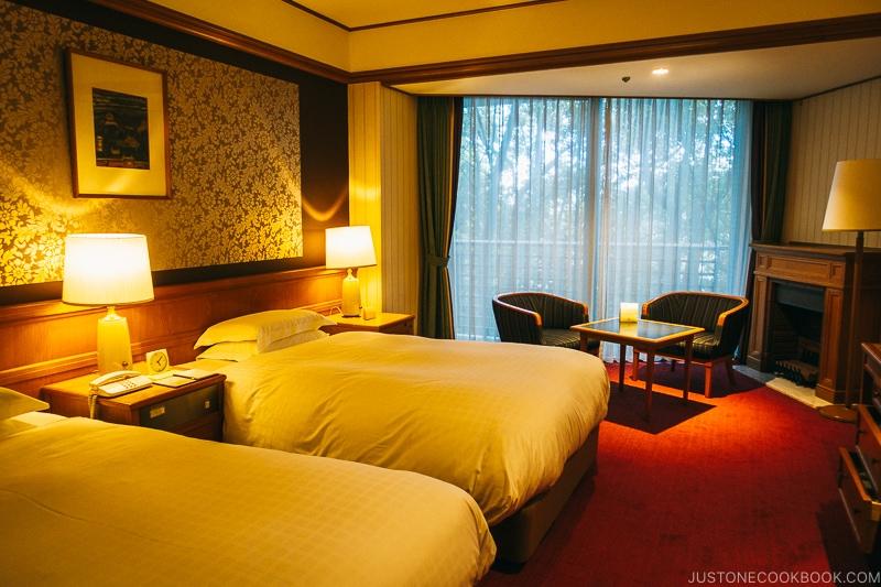 Guest bedroom at Nara Hotel