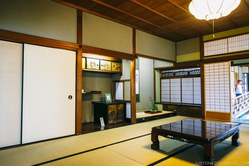 Living room inside Koshinoie - Nara Guide: Things to do in Nara | www.justonecookbook.com
