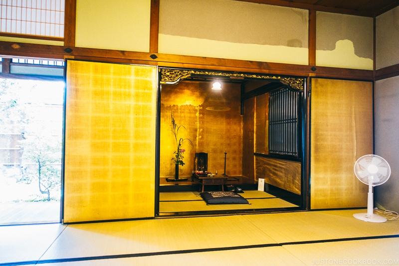 Buddhist altar inside Koshinoie - Nara Guide: Things to do in Nara | www.justonecookbook.com